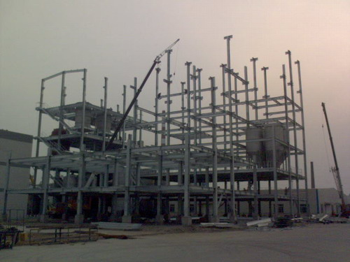 Steel Frame Work for Petrol Chemical Industry