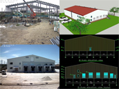 Russia Steel Structure Cold Storage Warehouse