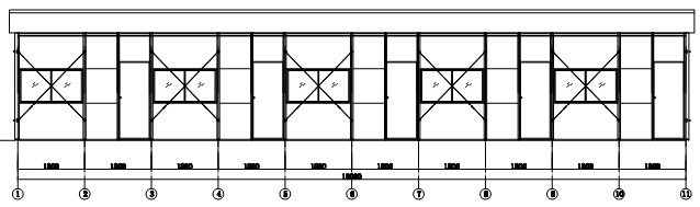 drawing of Single Storey Prefabricated House