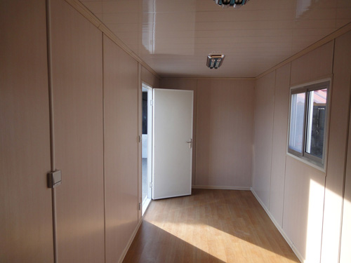 inner of container house sample, 40 sets container house exported to South Africa